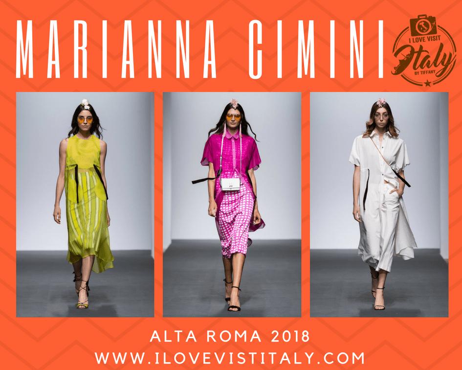 collezione Marianna Cimini AltaRoma 2018