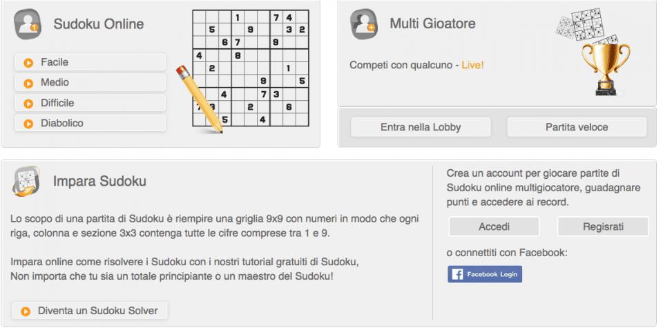 gioca a sudoku on line