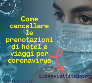 come cancellare le prenotazioni coronavirus
