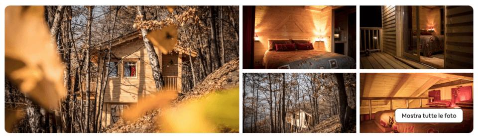 case sull'albero in piemonte